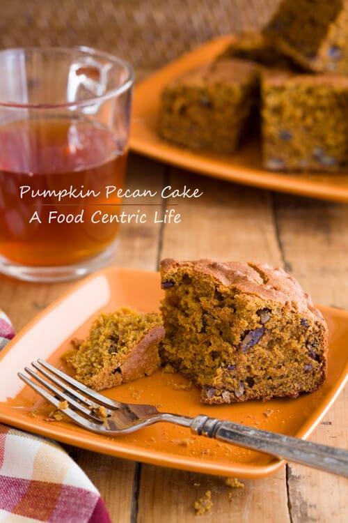 Pumpkin Maple pecan Cake | AFoodCentricLIfe.com