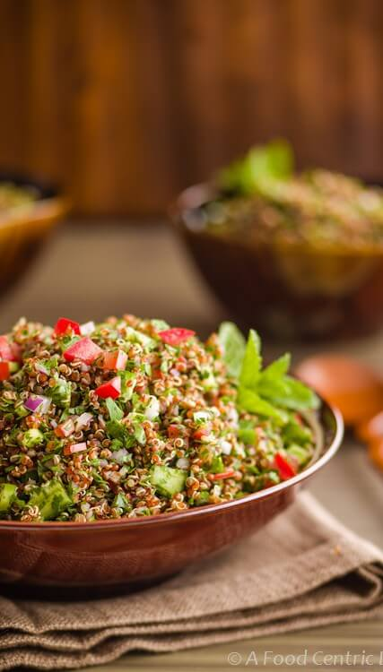 quinoa tabbouleh|AFoodCentricLife.com