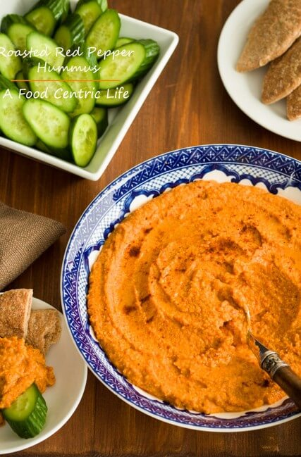 Roasted red pepper hummus a food centric life for Roasted red bell pepper hummus