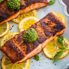 Simple Seared Salmon - Top Down