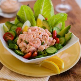 California Shrimp Louie Salad|AFoodCentricLife.com