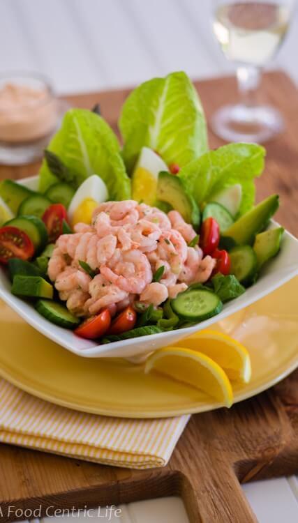 California Shrimp Louie Salad|AFoodCentricLife.com