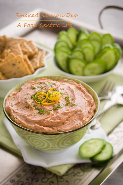Easy smoked salmon dip | AFoodCentricLife.com