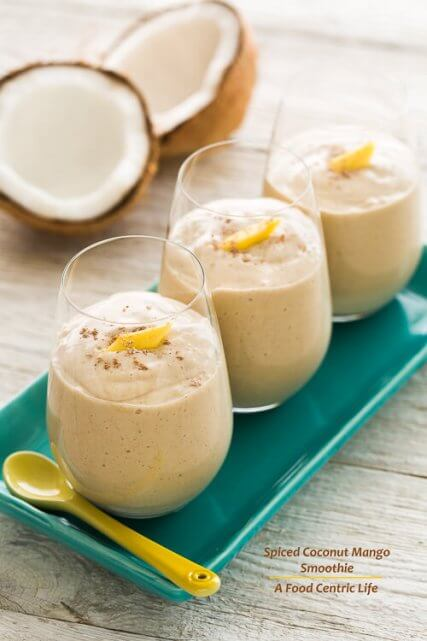 Spiced Mango Coconut Smoothie