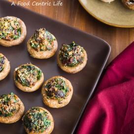 stuffed mushrooms | afoodcentriclife.com