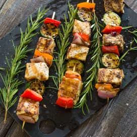 Grilled swordfish kabobs|AFoodCentricLife.com