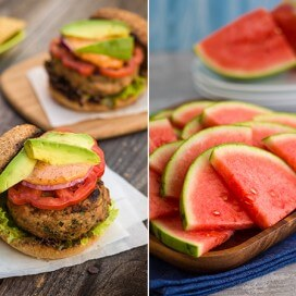 Turkey Burgers and Watermelon