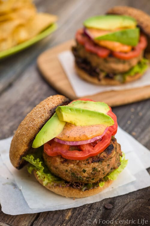Turkey burger|AFoodCentricLife.com