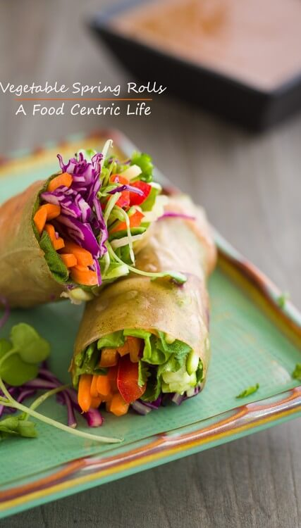 Vegetable Spring Rolls|AFoodCentricLife.com