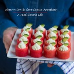 watermelon goat cheese appetizer | AFoodCentricLife.com