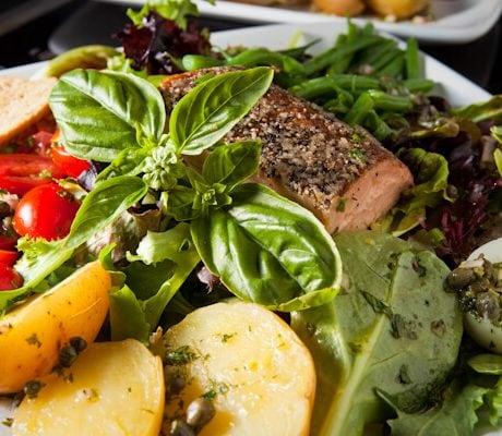 smoked salmon nicoise salad | AFoodCentricLife.com