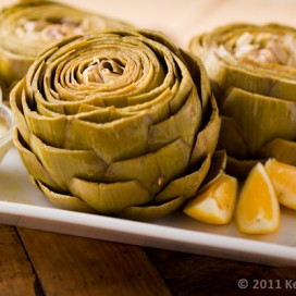 Steamed Artichokes with Dipping Sauce|AFoodCentricLife.com