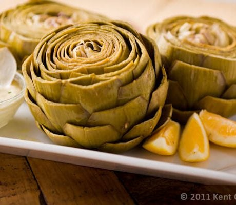 Steamed Artichokes with Dipping Sauce | AFoodCentricLife.com