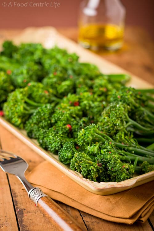 Basic Broccolini | AFoodCentricLife.com