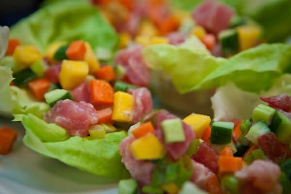 raw ahi tuna salad | afoodcentriclife.com