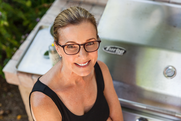 Sally at the grill | AFoodCentricLife.com