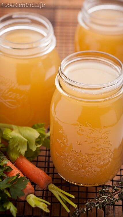 Homemade Chicken Broth|AFodoCentricLife.com