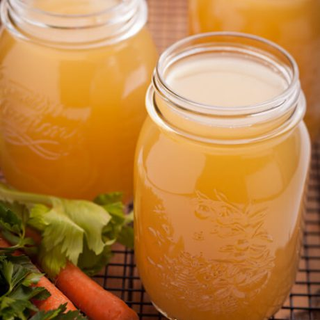 Homemade Chicken Broth | AFoodCentricLife.com