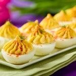 Creamy Deviled Eggs | AFoodCentricLife.com