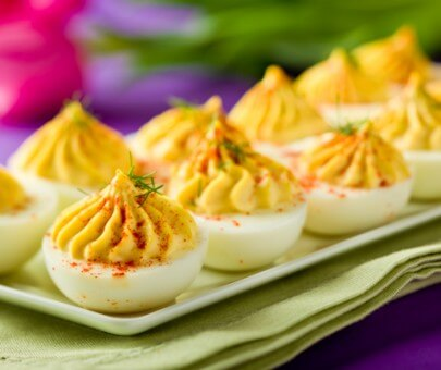 Creamy Deviled Eggs|AFoodCentricLife.com