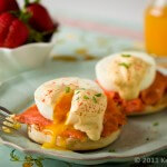 Smoked Salmon Eggs Benedict | AFoodCentricLife.com