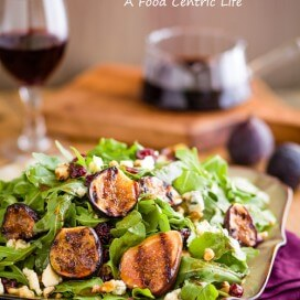 Grilled Fig Salad|AFoodCentricLife.com