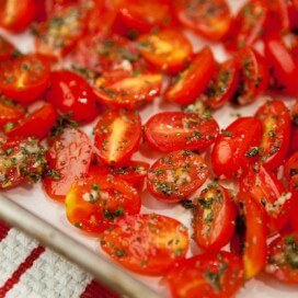 Grape Tomatoes Before Roasting