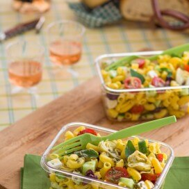 Greek pasta salad|AFoodCentricLife.com