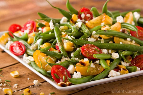 Green Bean Salad with Sweet Tomatoes and Corn | afoodcentriclife.com