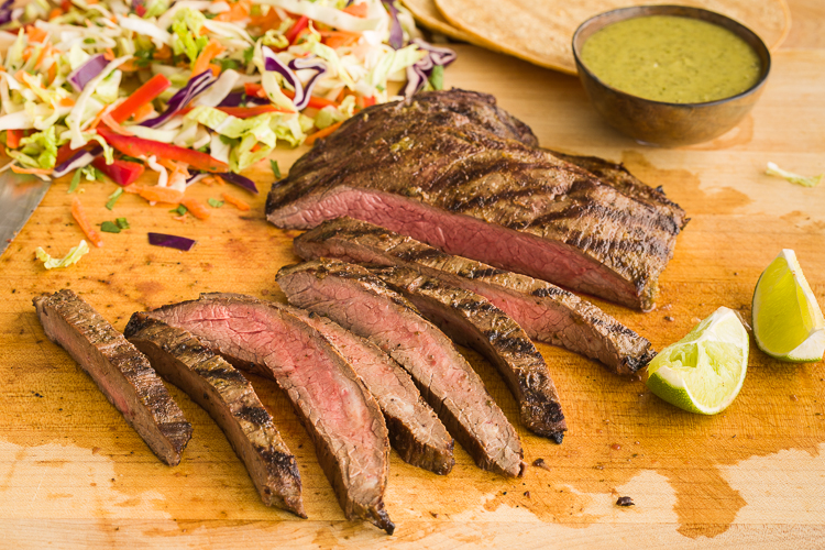 Grilled Flank Steak Mexican Style | AFoodCentricLife.com