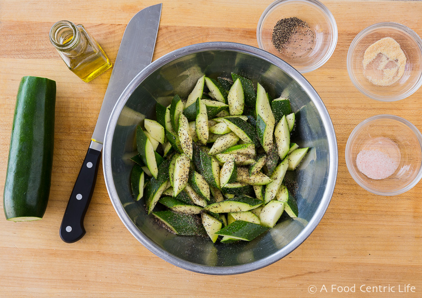 chopped zucchini | AFoodCentricLife.com