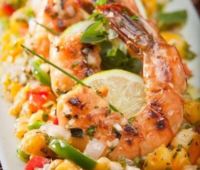 jalapeno mint grilled shrimp | AFoodCentricLife.com