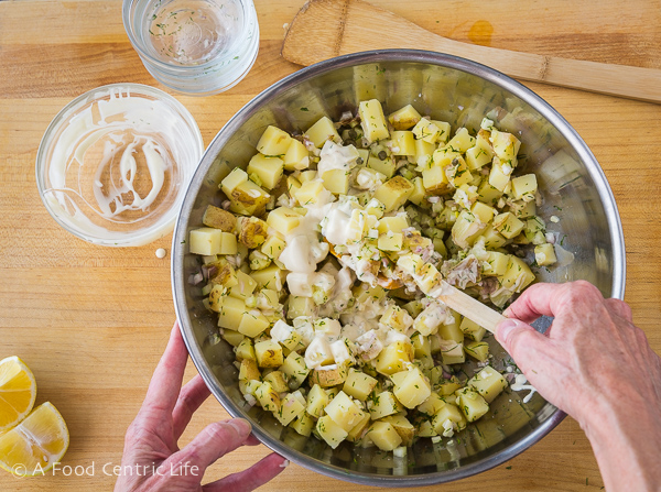 potato salad AFoodCentricLife.com