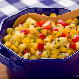 Pineapple Mango Salsa | AFoodCentricLife.com