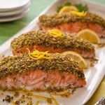 Pistachio crusted roast salmon|AFoodCentricLife.com