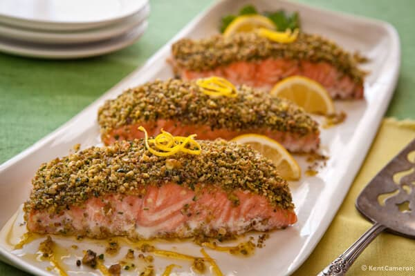 pistachio crusted roast salmon a food centric life