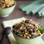 rice salad with corn ina bowl   afoodcentriclife.com