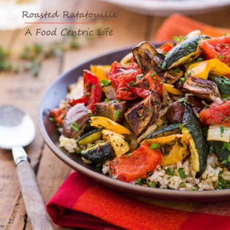 roasted vegetable ratatouille | AFoodCentricLife.com