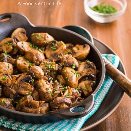 steakhouse mushrooms |AFoodCentricLife.com