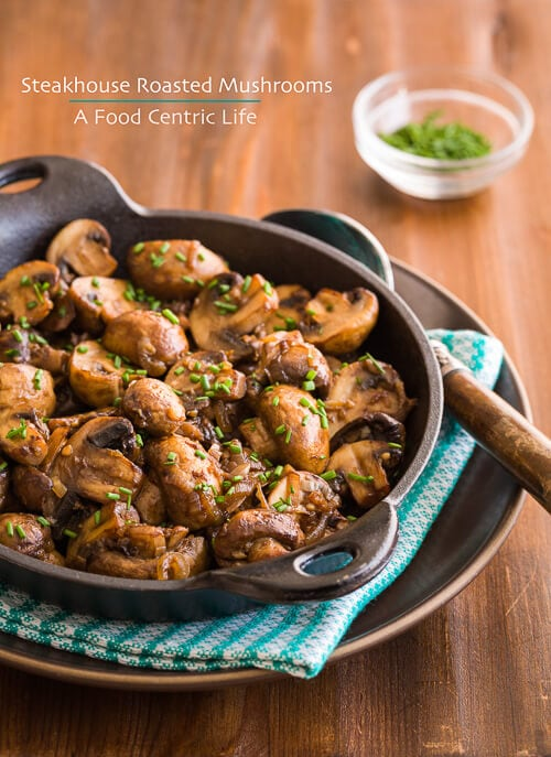 steakhouse roasted mushrooms |AFoodCentricLife.com