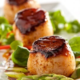 Seared Scallops with Hoisin Glaze|AFoodCentricLife.com