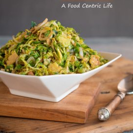 Shaved Brussels Sprouts|AFoodCentricLife.com