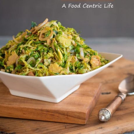 Shaved Brussels Sprouts| A FoodCentricLife.com