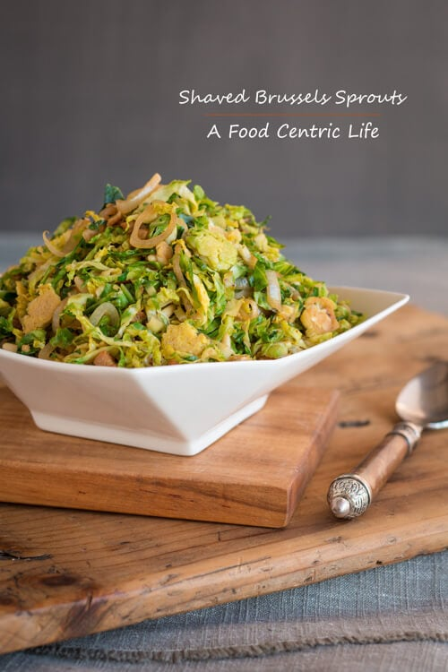 Shaved Brussels Sprouts | A FoodCentricLife.com