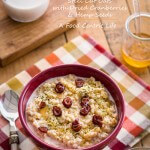 Steel Cut Oats with Dried Cranberries and Hemp Seeds |AFoodCentricLife.com
