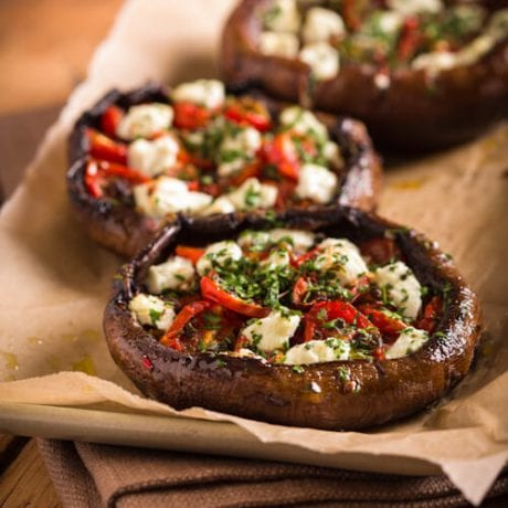 Stuffed Portobello Mushrooms | AFoodCentricLife.com