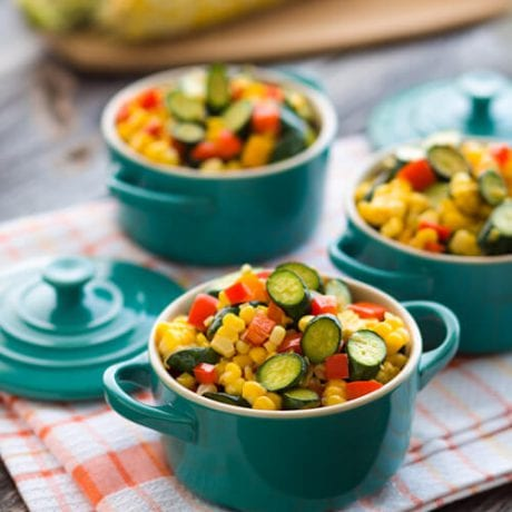 mixed vegetables in little pots | afoodcentriclife.com