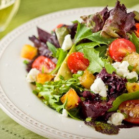 Goat Cheese and Vegetable Salad|AFoodCentricLife.com