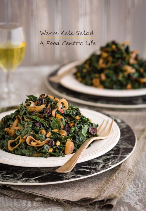 warm kale salad | afoodcentriclife.com