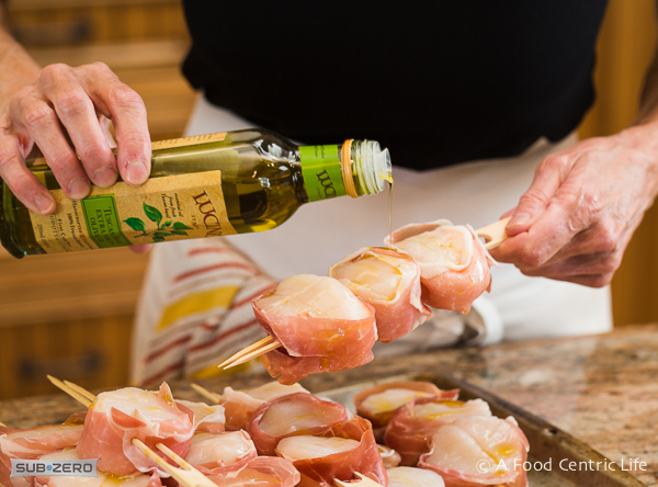 grilled scallops wrapped in prosciutto |afoodcentriclife.com